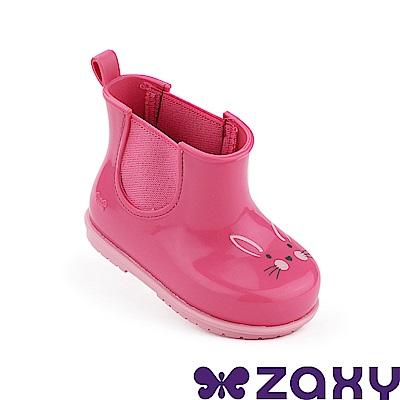 Zaxy 巴西 寶寶 動物亮彩 短雨靴 粉紅