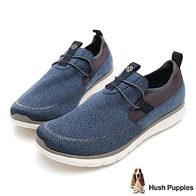 Hush Puppies SPEED 個性風休閒健走鞋-藍色