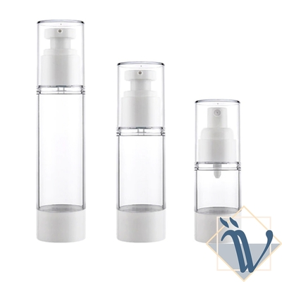 3入 Viita 旅遊便攜化妝水/乳液/精華液真空按壓噴霧分裝瓶/擠壓瓶 白
