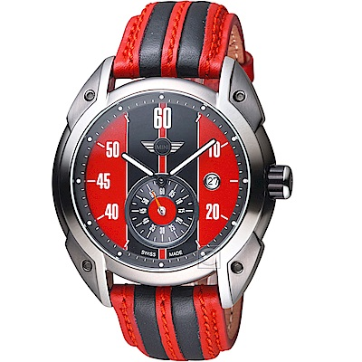 MINI Swiss Watches Cooper復古賽車錶(MINI-160301)-紅