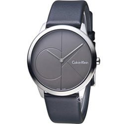 Calvin Klein minimal 大 ck 簡約時尚腕錶(K3M211C3)灰