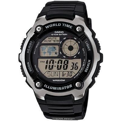 CASIO 潛戰世界先鋒運動電子錶-膠帶/黑(AE-2100W-1A)/47.7mm