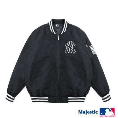 MLB-洋基隊俐落簡約風棒球外套-黑 (男)