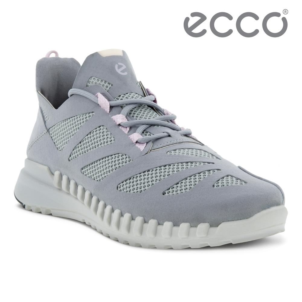 ECCO ZIPFLEX W 酷飛拼接設計運動戶外休閒鞋  女鞋 銀灰色
