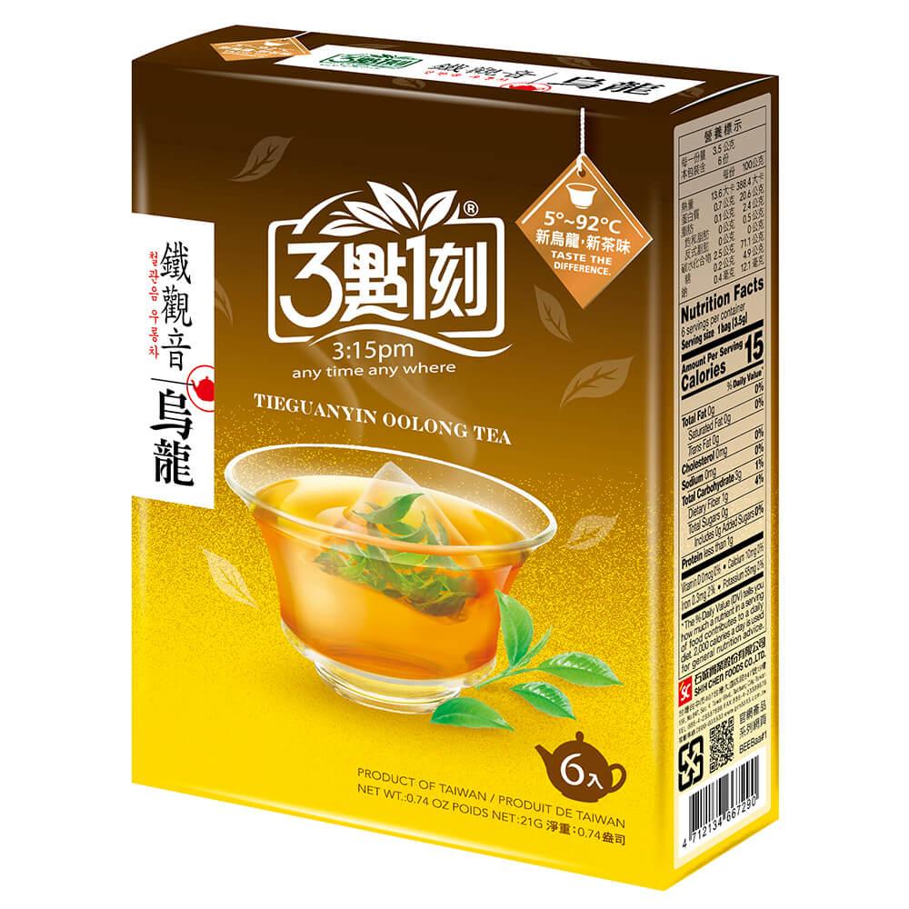 3點1刻 鐵觀音烏龍茶(6入/盒)