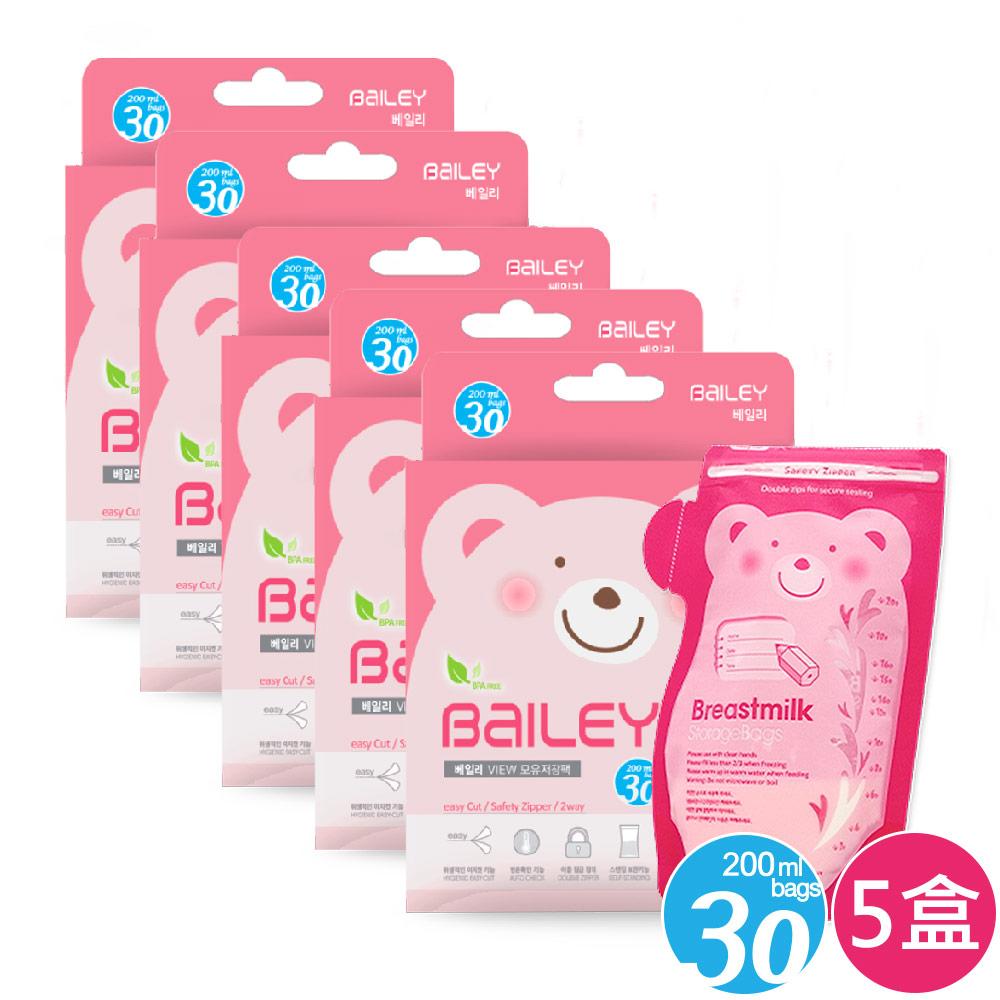 韓國BAILEY貝睿 感溫母乳儲存袋-壺嘴型30入(5盒) @ Y!購物
