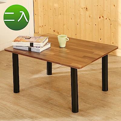 BuyJM工業風低甲醛鐵腳茶几桌和室桌2入組80*60公分-DIY