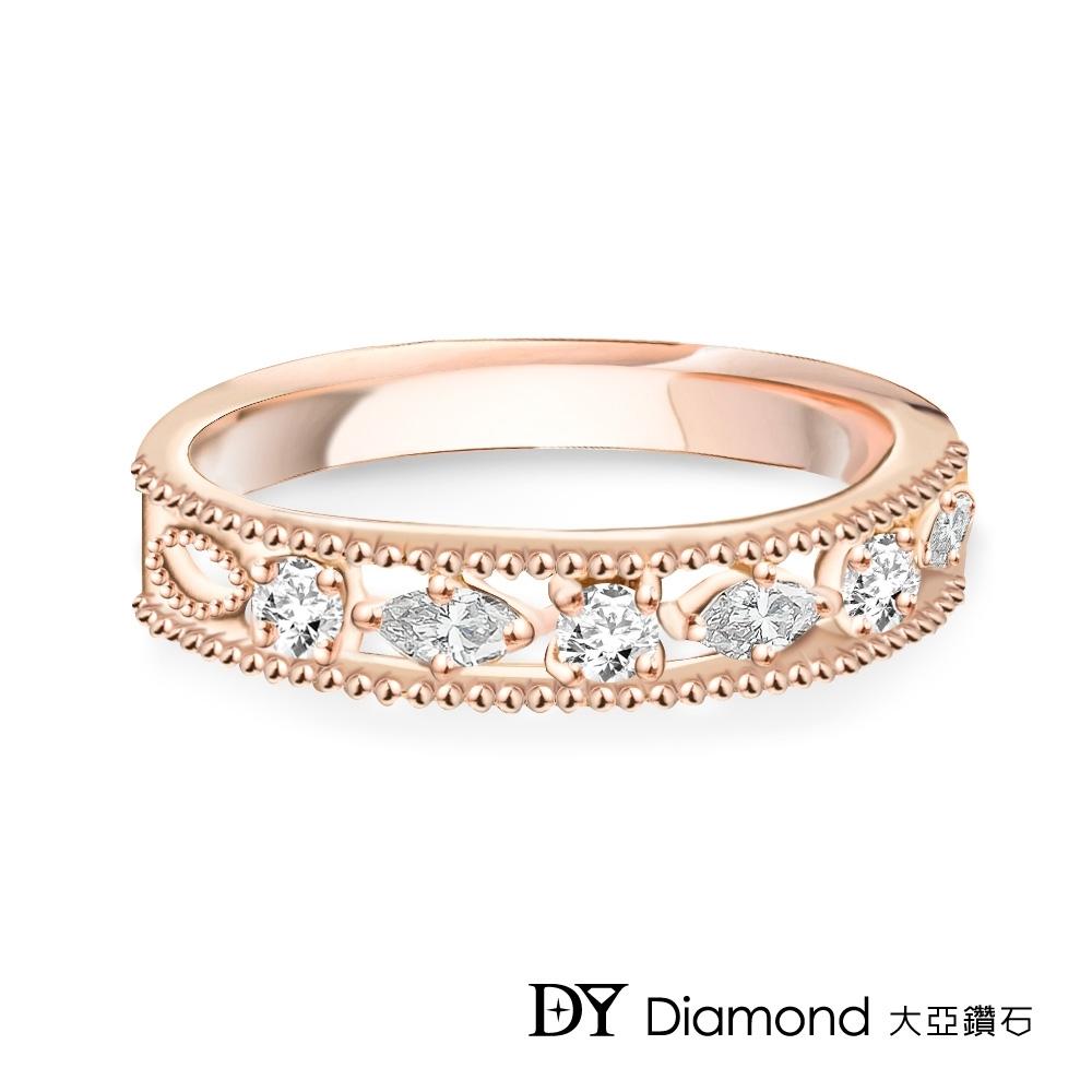 DY Diamond 大亞鑽石 L.Y.A輕珠寶 18K玫瑰金 星空 鑽石線戒
