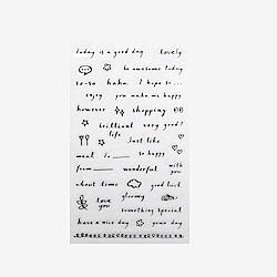 Dailylike 日日美好裝飾透明貼紙-18 slogon