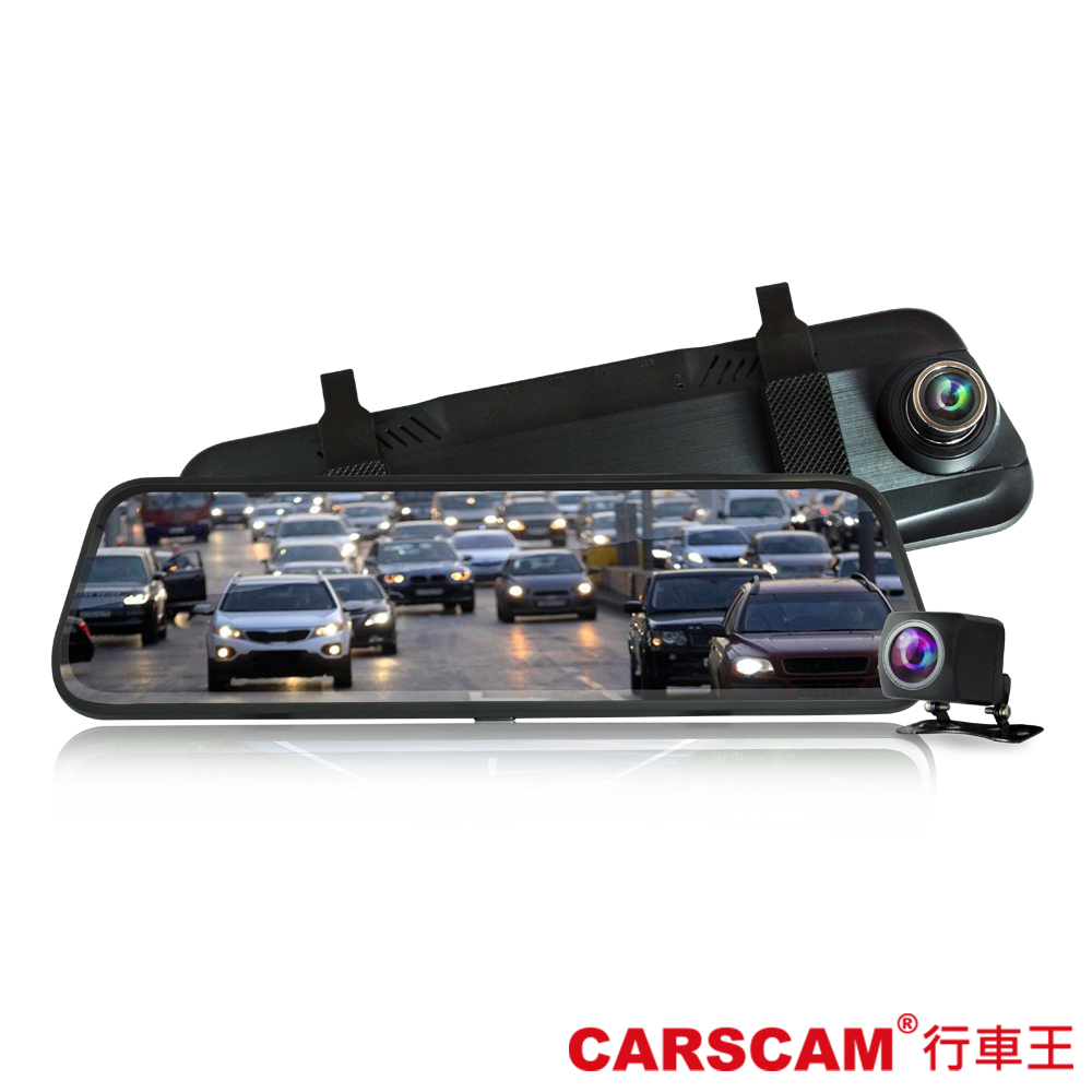 CARSCAM行車王 CR12 全螢幕電子式觸控雙鏡頭行車記錄器-急速配 @ Y!購物