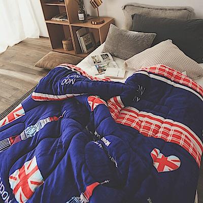 絲薇諾 藍色英國 MIT 雙面法蘭絨被/單人-145×195cm