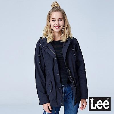Lee 腰部抽繩連帽外套-黑色
