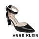 ANNE KLEIN-KNELL 經典素面質感繫帶跟鞋-黑色 product thumbnail 1