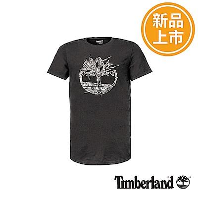 Timberland 男款黑色Dry River反光短袖T恤