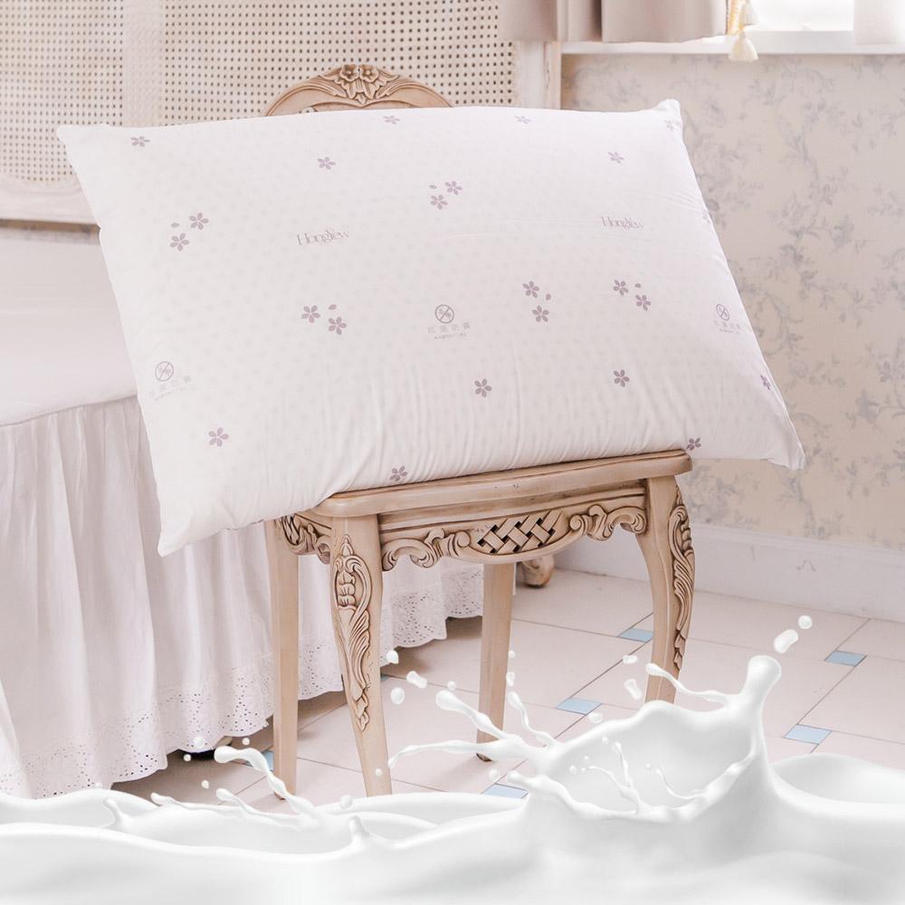鴻宇 美國棉授權 防蹣抗菌加大型乳膠枕1入
