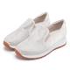 ORIN 時尚渡假風 鞋面規則燙鑽平底休閒鞋-白色 product thumbnail 1