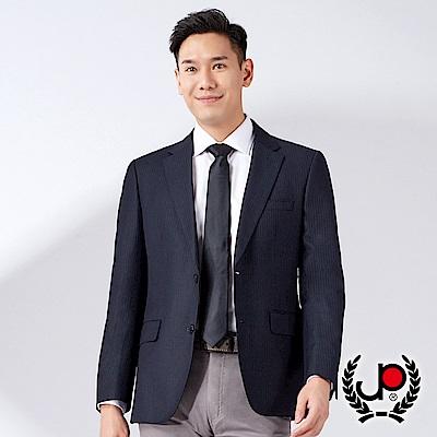 極品西服 層次品味仿毛條紋西裝外套_深藍(AW536-3G)