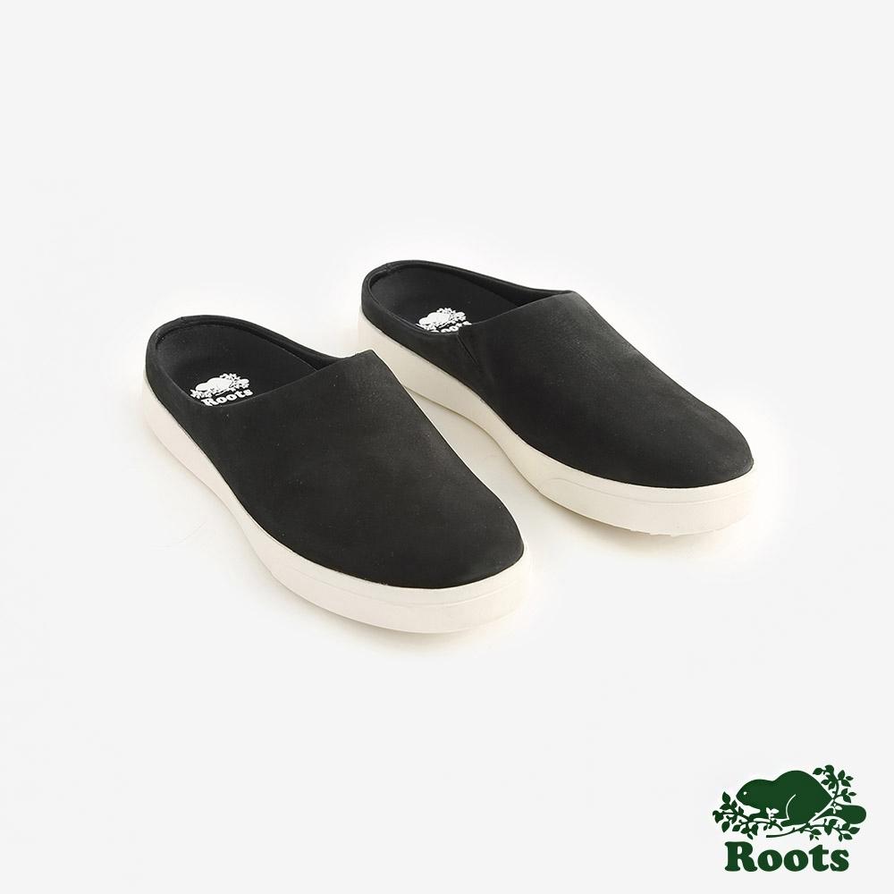 Roots女鞋- 休閒穆勒鞋-黑