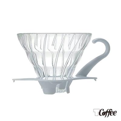 TCoffee HARIO-V60白色01玻璃濾杯