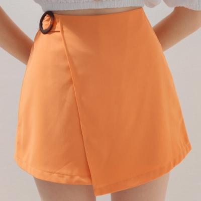 AIR SPACE 琥珀造型A字褲裙(橘)
