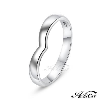 AchiCat純銀戒指沉醉在你愛裡情侶925純銀銀戒
