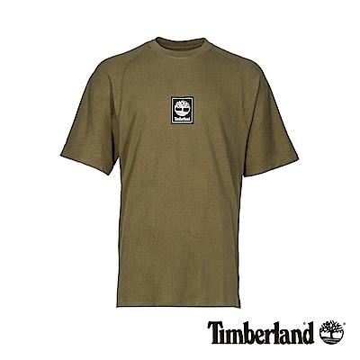 Timberland 男款橄欖綠品牌LOGO短袖T恤|A1OAG