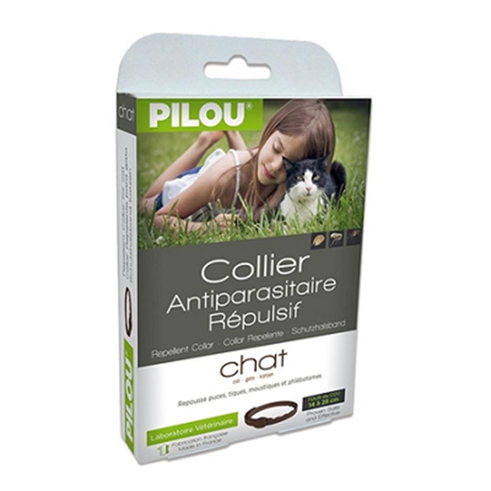 法國皮樂Pilou第二代加強升級-非藥用除蚤蝨項圈-成貓用(35cm) 兩盒組