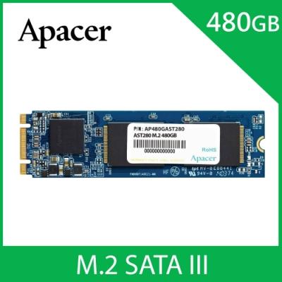 Apacer AST280 M.2 SATA3 480GB SSD固態硬碟