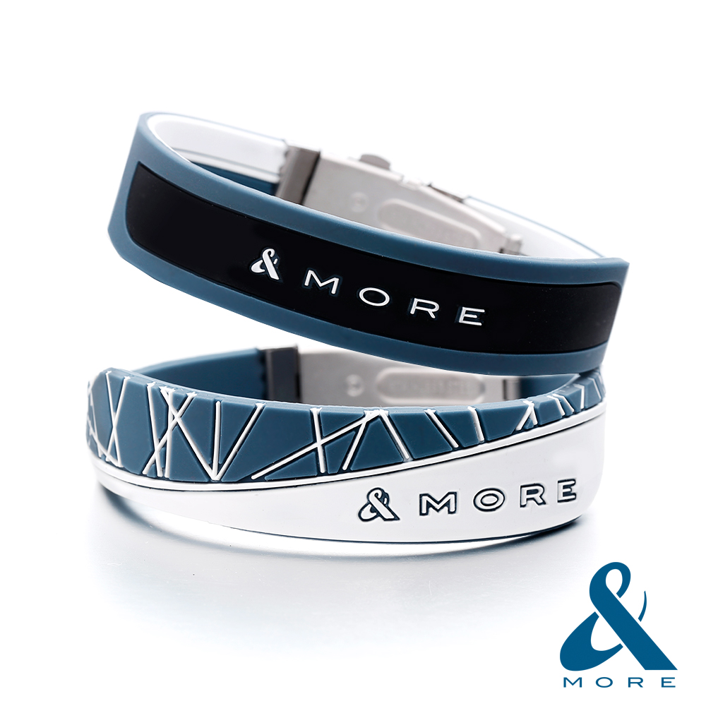 &MORE愛迪莫鈦鍺-X-FORCE極限負離子運動手環(元素藍)