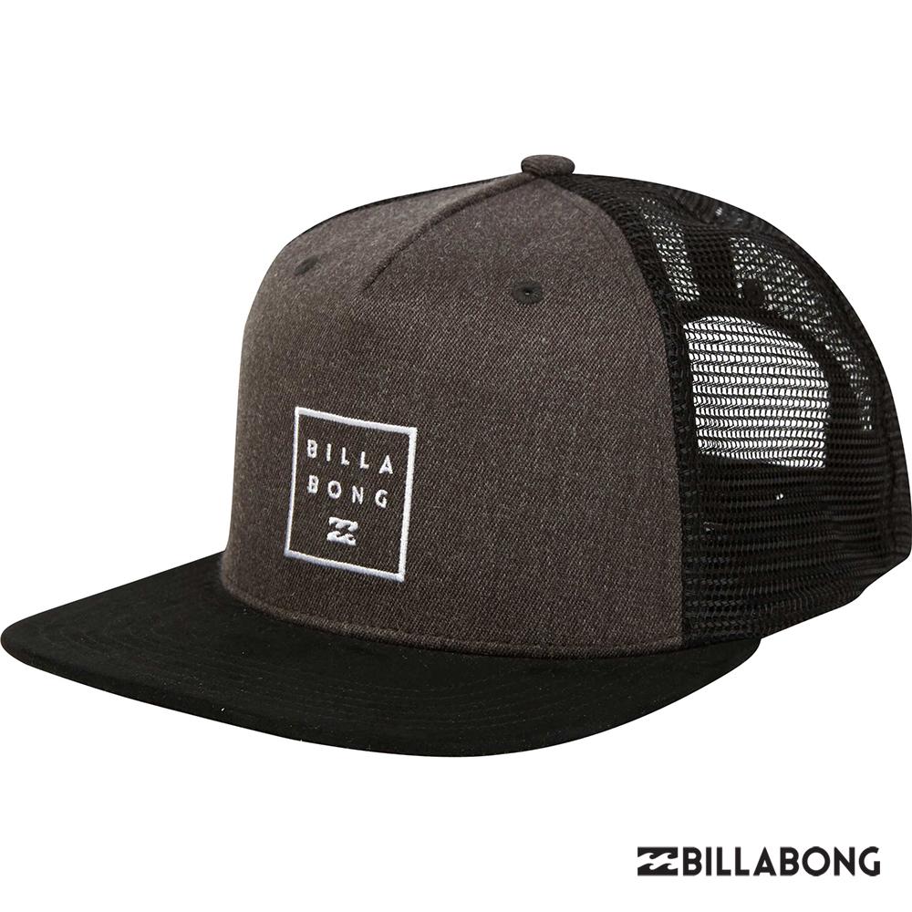 BILLABONG-STACKED TRUCKER棒球帽-黑灰
