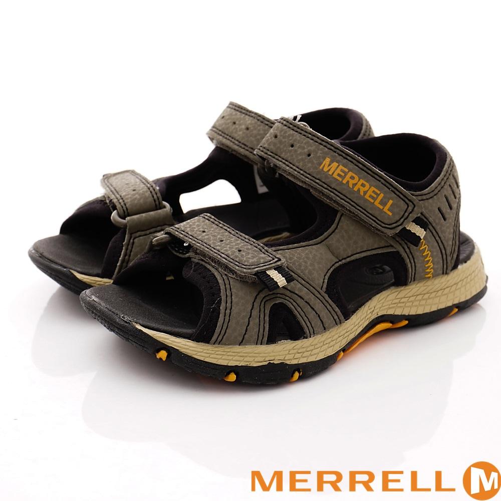 MERREL頂級童鞋 戶外運動涼鞋款 TW61235橄欖綠(中大童段)