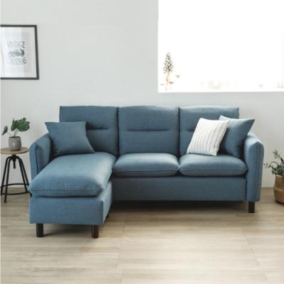 完美主義 北歐風耐磨L型沙發/布沙發/三人座/貴妃椅(2色)