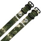 Watchband / 軍事風格 迷彩格子 輕便柔軟 尼龍錶帶-軍綠色