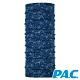 【PAC德國】美麗諾羊毛透氣抗臭經典頭巾PAC8850202花朵圖騰-藍 product thumbnail 1