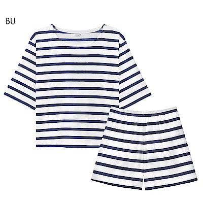 aimerfeel 海洋風毛巾布成套家居服-藍色-822176-BU