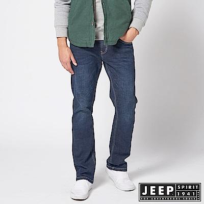 JEEP 美式經典休閒刷色牛仔褲