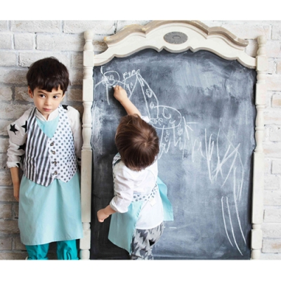 MARLMARL兒童用餐圍裙 男孩/條紋(KIDS 100-110cm)