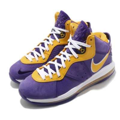 Nike 籃球鞋 Lebron VIII QS 運動 男鞋 氣墊 避震 包覆 明星款 LBJ 球鞋 紫 黃 DC8380500