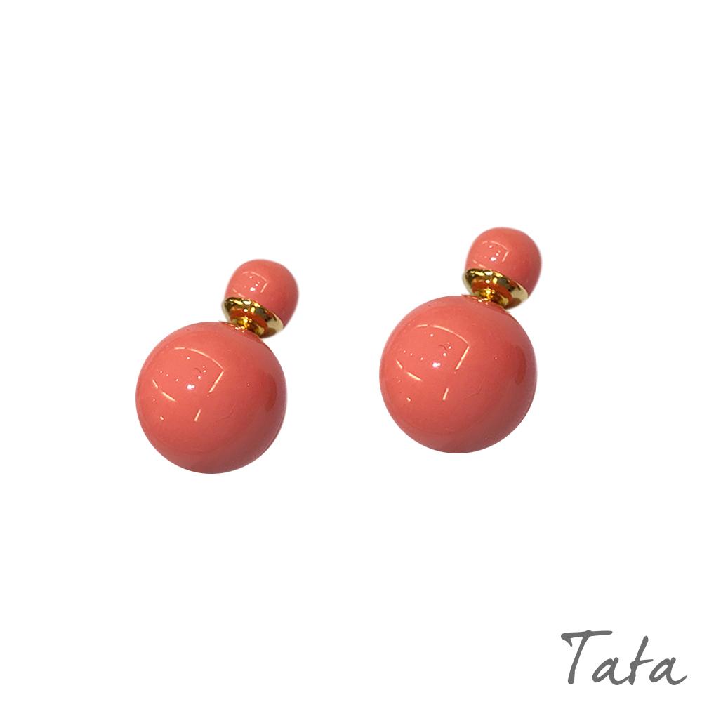前後珠珠耳環 共四色 TATA