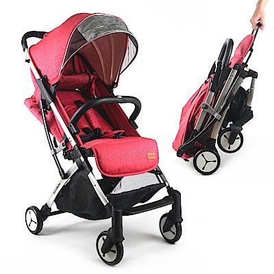BabyBabe 嬰幼兒登機推車-寶石紅