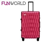 FUNWORLD 26吋鑽石系列鋁框行李箱-瑰麗紅