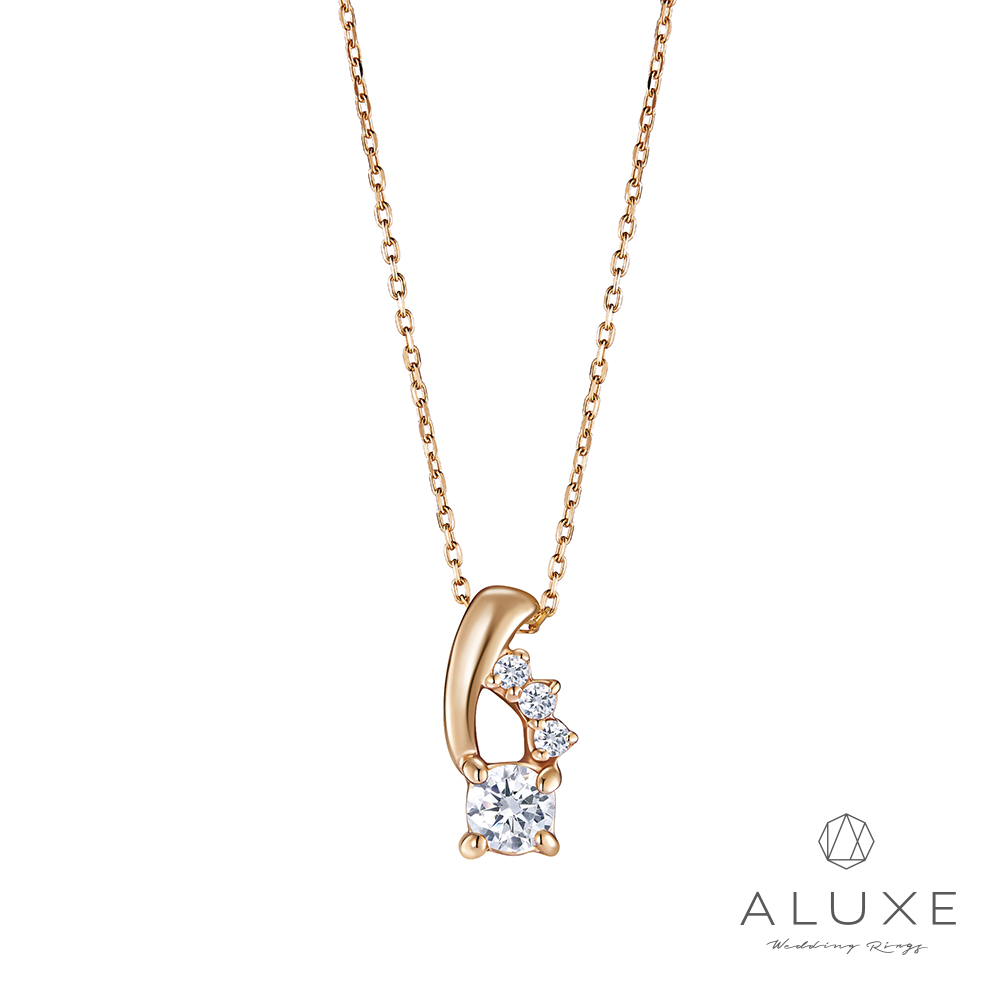 A-LUXE 亞立詩 Shine系列 10K造型鑽石項鍊