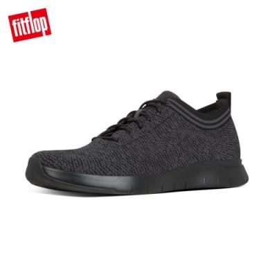 FitFlop FINEKNIT 運動風繫帶休閒鞋 黑色