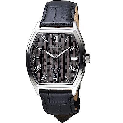 SEIKO精工Presage經典時尚機械腕錶(SRPD07J1)-灰黑