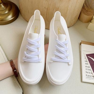 韓國KW美鞋館-舒適流線美身板鞋-白色