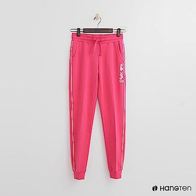 Hang Ten - 女裝 -滾邊線條束口褲-粉
