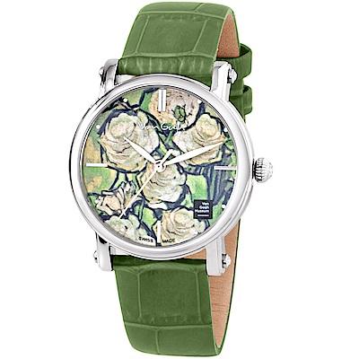 梵谷Van Gogh Swiss Watch梵谷經典名畫女錶(Lady 17)-綠花