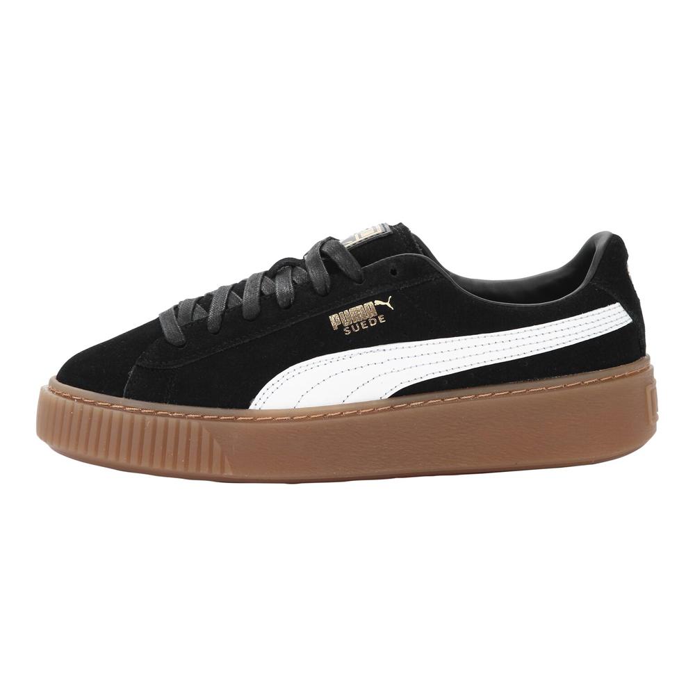 PUMA-SUEDE PLATFORM CORE女性休閒鞋-黑色