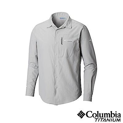 Columbia哥倫比亞 男款-鈦 UPF30極輕量長袖襯衫-灰色