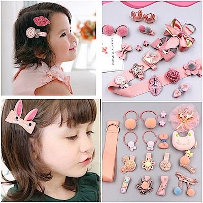 梨花HaNA媽咪瘋狂啦韓國兒童進口緞帶髮飾禮盒18件組 @ Y!購物